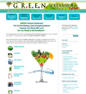 GREEN Cleanse Dashboard
