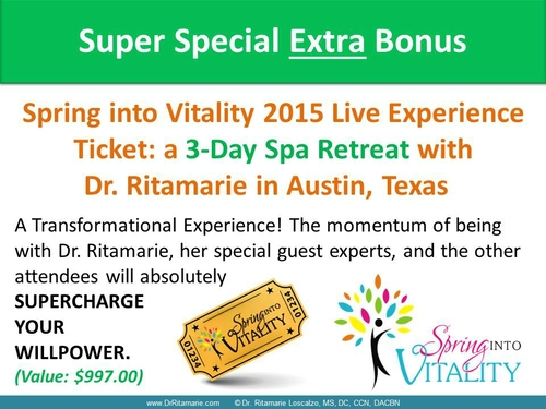 Bust Your Belly Fat - BONUSES - Spring Into Vitality Ticket
