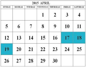 SIV April 2015 calendar