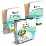 B4 Be Gone 30Day Meal Makeover - Binder with Recipe Collection and Menu Planner