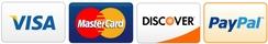 Visa Mastercard Discover Paypal