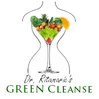 GREEN Cleanse - glass with body x200